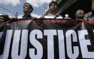 In the Philippines, 'Justice' is just a slogan used for selling t-shirts.