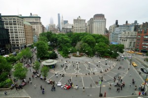 New York City's Union Square: The idea of shared public space is alien to the Filipino mind.