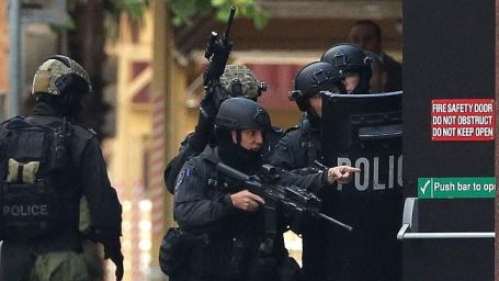 Competent, well-trained and well-equipped police officers were in position within minutes after the situation was reported.Photo courtesy The Australian.