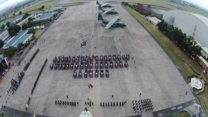 Arrival honors for fallen SAF police officers at the Villamor Air Base(Source: Philippine Air Force)