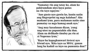 "A collection of Noynoy quotes on any topic whatsoever usually results in a collective ""SMH"" for those not dazzled by his bull$hit."