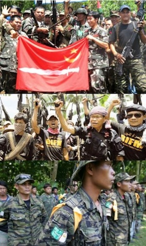 Various Moro rebels competing for dominance in Mindanao