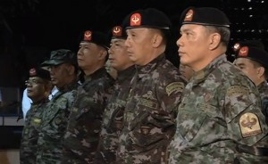 PNP-SAF troops: Impressive professionalism on display even as they listened to the same old story.