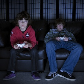 Video game addiction is a growing childhood affliction.