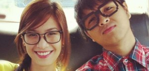 The 'JaMich' couple in happier days