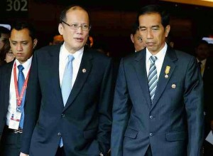 Brief encounter:  President BS Aquino's brief chat with President Widodo about Veloso does not equate to 'hard work'.