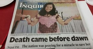 Failure of journalism: Inquirer gaffe killed Veloso literally before the fact!
