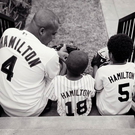 His last post on Father's Day with two of his sons.