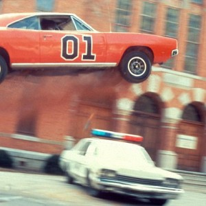 The 'General Lee' in action on the opening sequence of The Dukes of Hazzard.