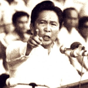 The late former President Ferdinand Marcos: Still being painted as the Philippines' villain 30 years since his ouster