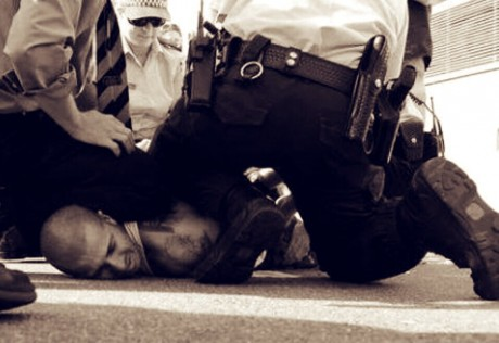 Zero tolerance is exercised by police forces in most modern countries when it comes to dealing with violent people.