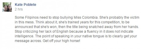 Bullying Miss Colombia