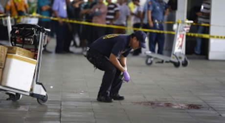 Philippine mayor and wife gunned down at NAIA terminal 3 last Dec 2013. Photo: AP