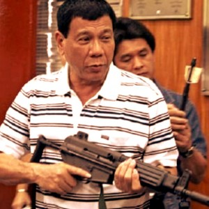 Here's a tip for you Mr Duterte: You need to load the gun first before you attempt to shoot it.