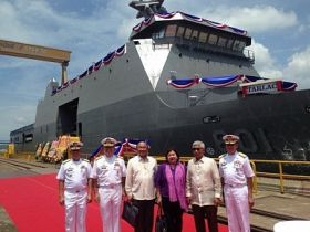 The Philippine Navy's new SSV BRP Tarlac built by Indonesian shipbuilder PT PAL. (Image source: Philippine Navy)
