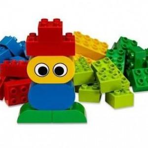 A 'robot' made with Duplo bricks.
