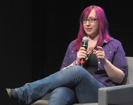 Zoe Quinn, one of the victims of the Gamergate online harassment fracas