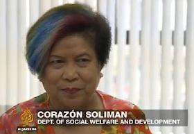 DSWD Secretary Dinky Soliman interviewed on Al Jazeera