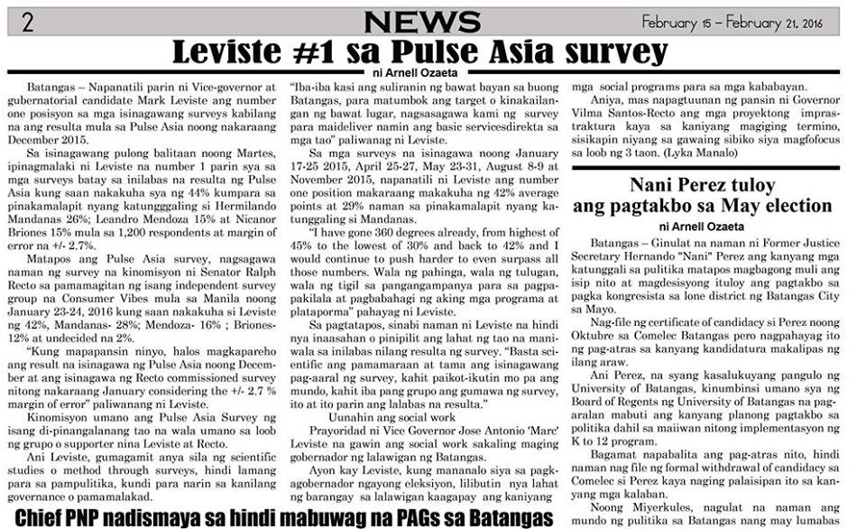 mark leviste fake survey pulse asia