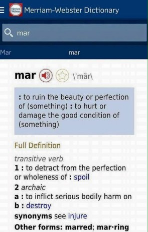 Just like the name Naomi means beauty , Mar means well read it for yourself.