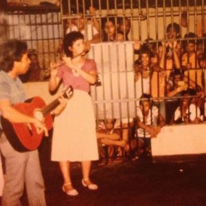 Jaqueline Hamill at one of the prisons in the Philippines where she performed missionary work (Source: Facebook)