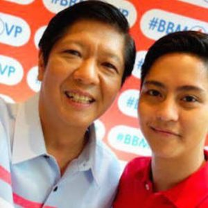 Bongbong Marcos (with son, Sandro) worked hard to campaign nationwide only to fall victim to electoral fraud.