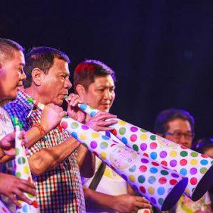 Then Mayor Rodrigo Duterte at the Davao Torotot Festival in 2015 (Source: Wikipedia)