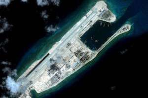 The Fiery Cross Reef in the Spratly Islands held by China now appears to be militarised.