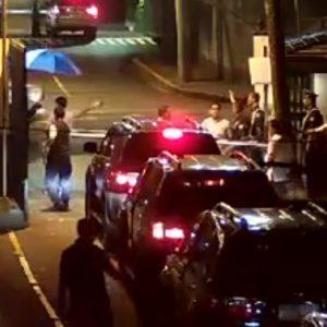 Makati City Mayor Junjun Binay's motorcade stopped by security at Dasmarinas Village, Makati in 2013