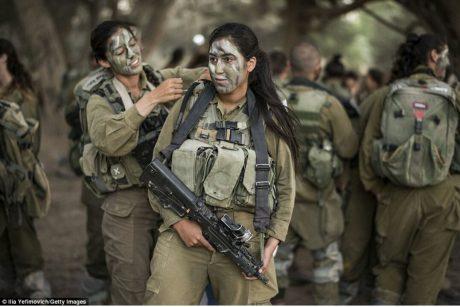 Israeli girls doing mandatory military service