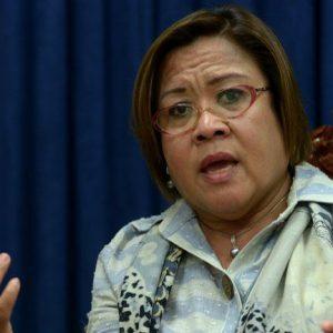 Senator Leila De Lima: Lacks any moral high ground to criticise Duterte