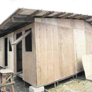 Houses constructed to provide relief for survivors of the Haiyan disaster are substandard.